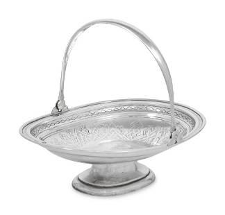 A Russian Silver Cake Basket
