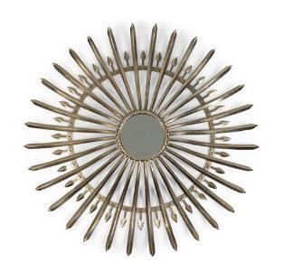 A Spanish Baroque Style Steel Sunburst Mirror Diameter