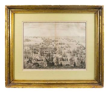 Two Dutch Copper Plate Engravings Plate 10 1/2 x 13 1/2