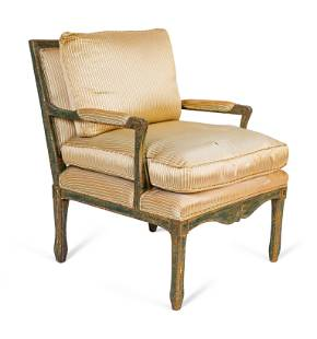 An Italian Neoclassical Style Painted Armchair Height