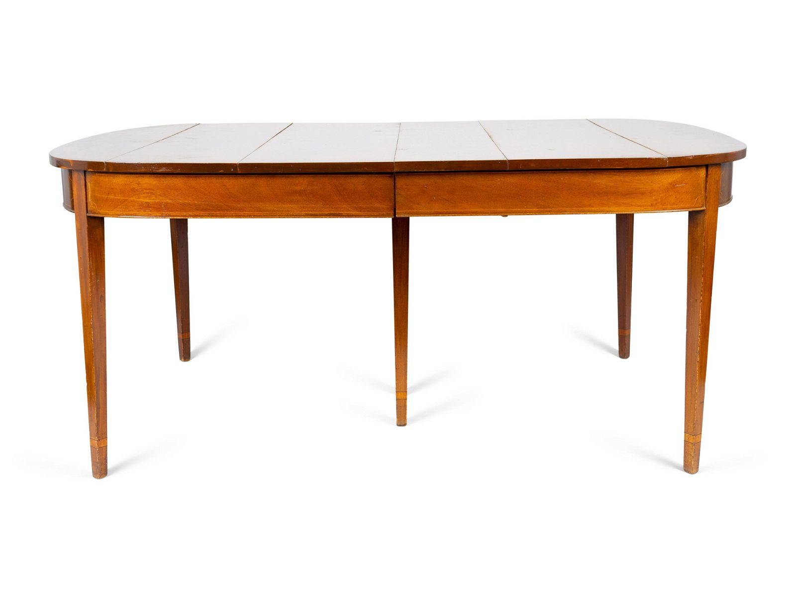 A George III Style Mahogany D-end Dining Table Height