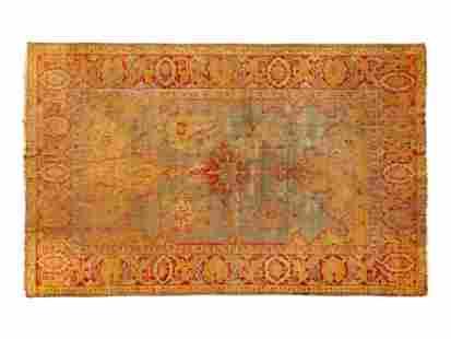 An Angora Oushak Wool Rug 13 feet 5 inches x 9