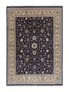 A Tabriz Silk on Cotton Rug 10 feet 9 inches x 7 feet