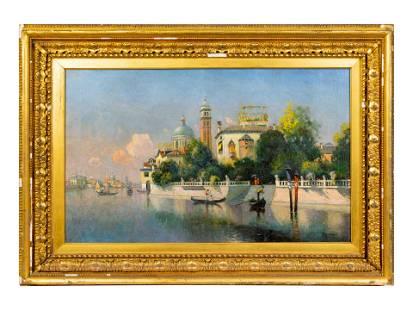Karl Eugene Felix (Austrian, 1836-1906) Venetian View