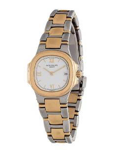 PATEK PHILIPPE, 18K YELLOW GOLD AND STAINLESS STEEL