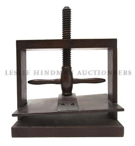 A Georgian Oak Book Press, Height (closed) 12 1/2 inche