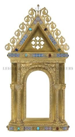 A Gothic Revival Architectural Frame, Height 24 1/2 inc