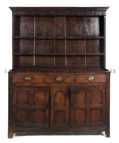An Oak Welsh Cupboard, Height 74 x width 58 x depth 17