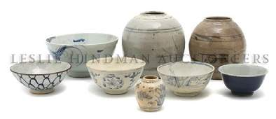 719 A Collection of Asian Pottery Articles Diameter o