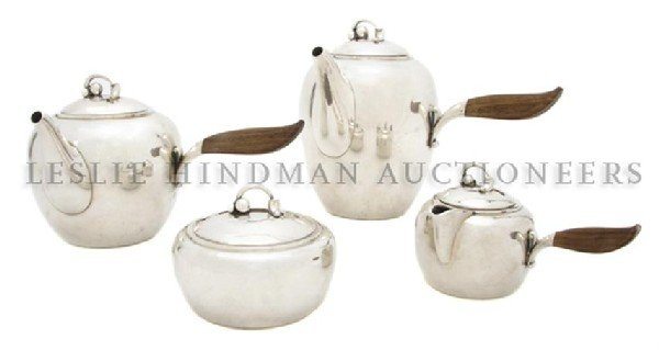 893: A Danish Sterling Silver Tea and Coffee Service, G