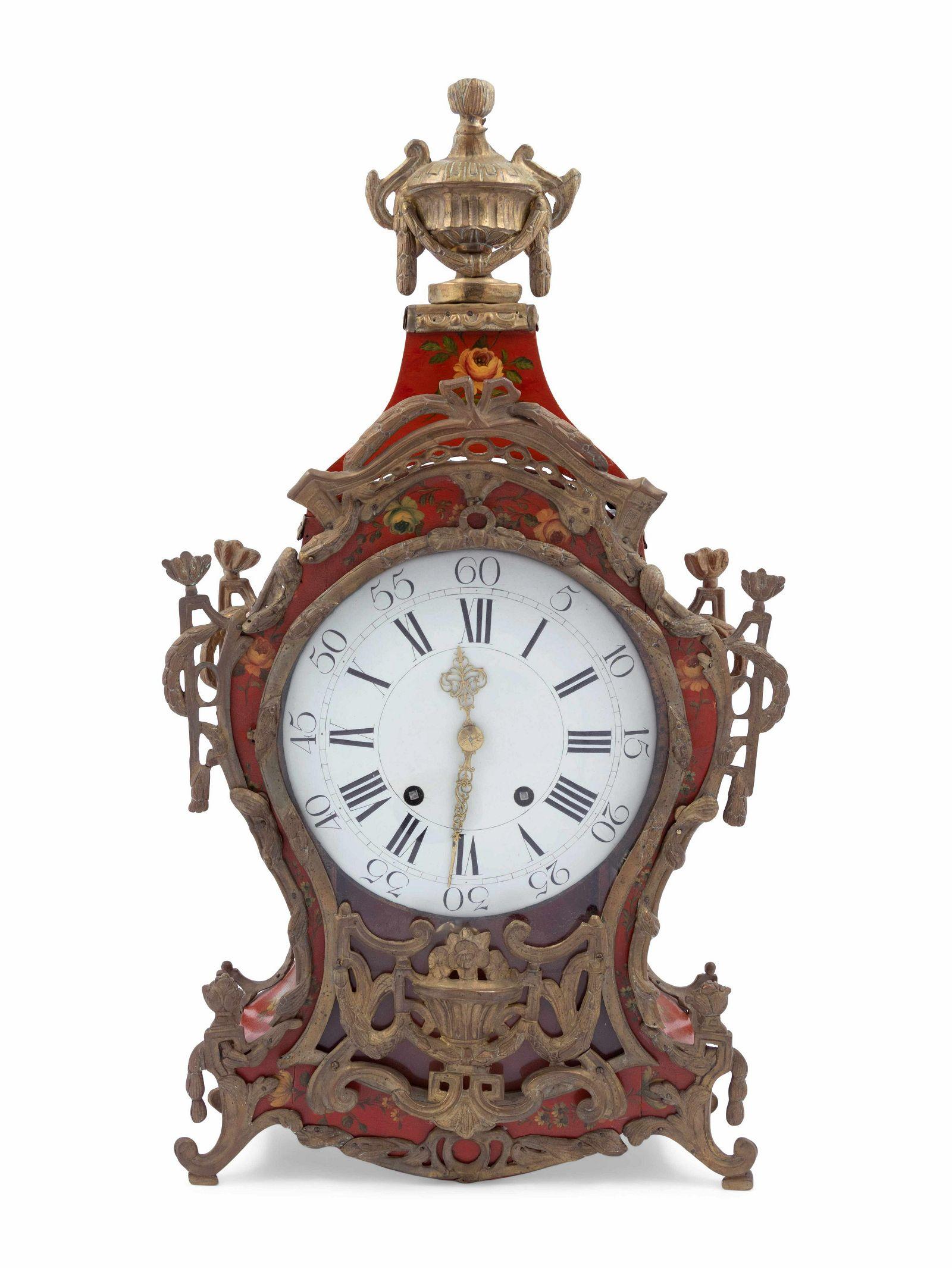 A Louis XV Painted Ta´le Bracket Clock