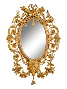 A French Gilt Bronze Mirror in the Manner of Francois