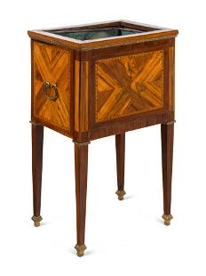 A Louis XVI Kingwood and Marquetry Jardiniere