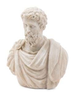 A Carved Marble Bust of Septimius Severus