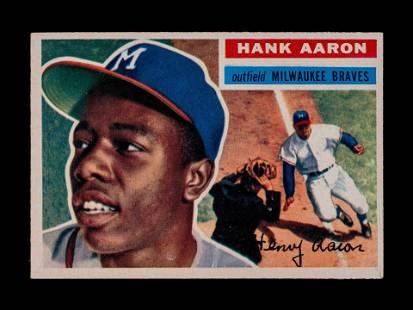 A 1956 Topps Hank Aaron Baseball Card No. 31 (White