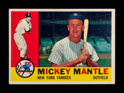 A 1960 Topps Mickey Mantle Baseball Card No. 350