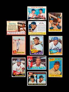 A Group of 11 1960s Hall of Fame and Rookie Baseball