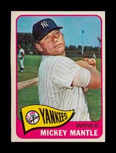A 1965 Topps Mickey Mantle Baseball Card No. 350