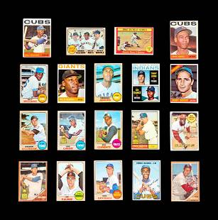 A Group of 19 1960s Topps Baseball Cards Including Hall