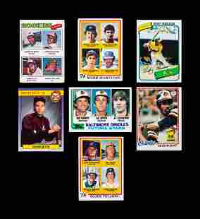 A Group of Seven Hall of Fame Baseball Rookie Cards,