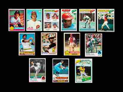 A Group of 13 Topps Hall of Fame and Star Baseball
