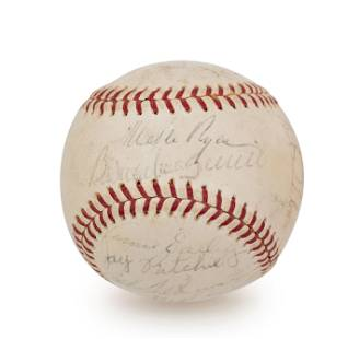 A 1965 Boston Red Sox Team Signed Autograph Baseball