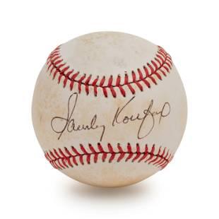 A Sandy Koufax Signed Autograph Baseball (BAS Beckett