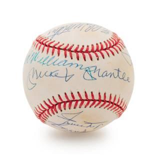 A 1980s 500 Home Run Club Signed Autograph Baseball