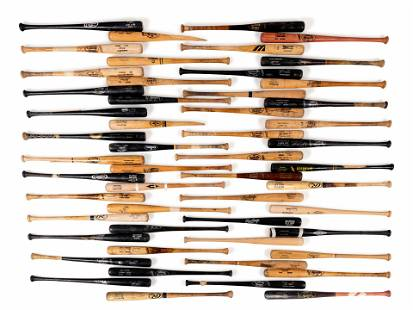 A Group of 53 Game Used Baseball Bats,