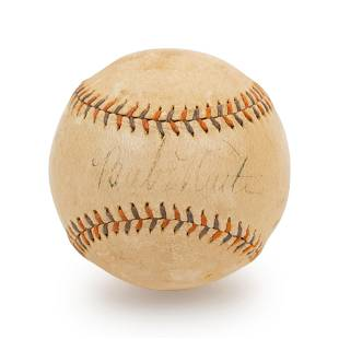 A Babe Ruth Signed Autograph Home Run Special Spalding