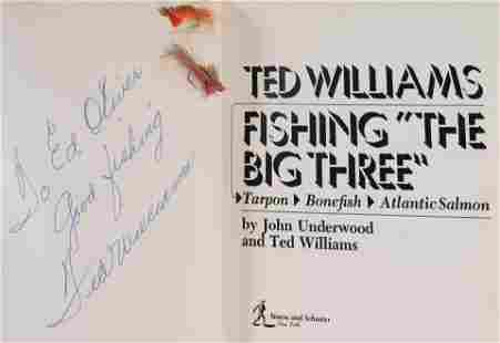 A Ted Williams Signed Autographed Fishing The Big Three