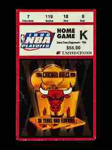 A June 16, 1996 Michael Jordan Chicago Bulls NBA