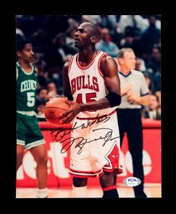 A Vintage Michael Jordan Signed Autographed Chicago