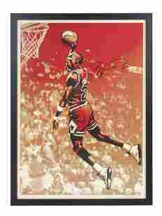 A Michael Jordan Chicago Bulls Signed Autograph Shepard