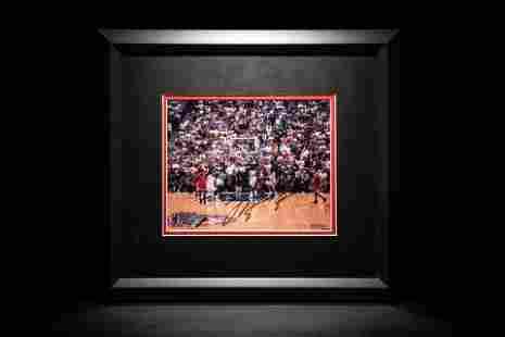 "A Michael Jordan Signed Autograph Chicago Bulls ""Last"