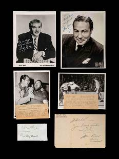 A Group of Max Baer and Buddy Baer Signed Autograph