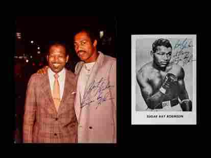 A Group of Two Boxing Champion Sugar Ray Robinson