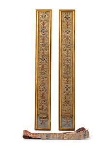 A Pair of Framed Italian Tapestry Fragments