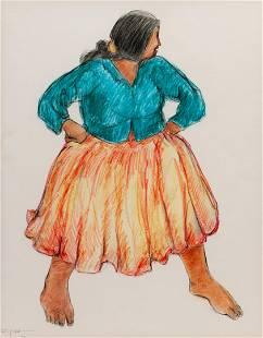 R.C. Gorman (Dine, 1932-2005) Watermelon Lady, 1971