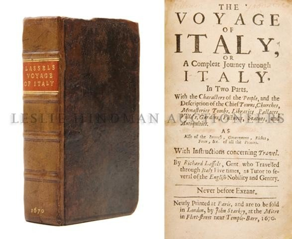 (EXPLORATION) LASSELS, RICHARD. The Voyage of Italy. Pa