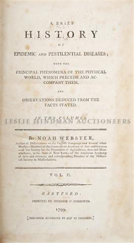 (MEDICINE) WEBSTER, NOAH. A Brief History of Epidemic a