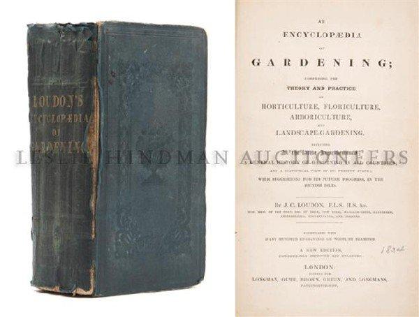 (BOTANY) LOUDON, J. C. An Encyclopaedia of Gardening .