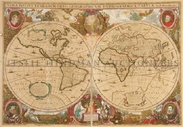 HONDIUS, HENRICUS. Nova totius terrarum orbis geographi