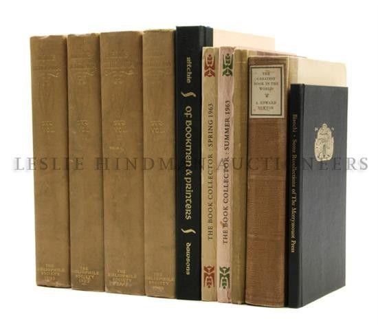 (BOOKS ABOUT BOOKS) A group of 10 books on printing and