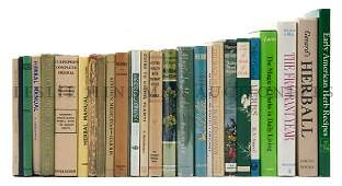 BOTANY A group of 27 books pertaining to herbs and he