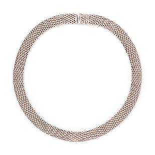 TIFFANY & CO., STERLING SILVER 'SOMERSET' NECKLACE