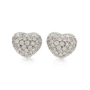 DIAMOND HEART EARCLIPS