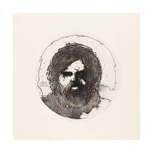 MOSER, Barry. Self Portrait at 32. [1972]. 346 x 354