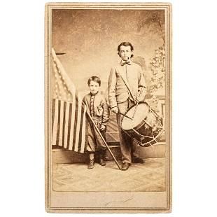 COLLINS, T.P., photographer. Patriotic Civil War CDV of