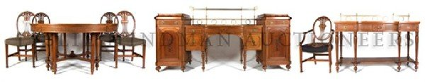 An American Adam Style Dining Room Suite, Diameter of t